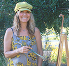 Alisa Huntley at her easel