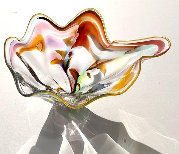 High Desert Sunset hand-lown glass vessel