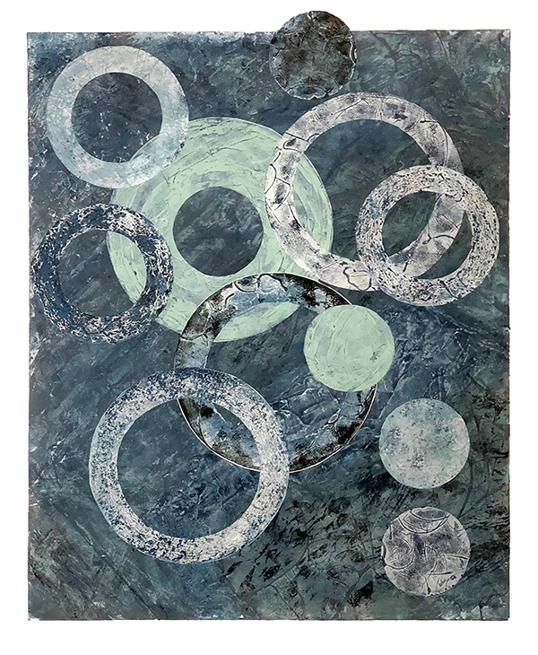 """Talisman, a collagraph by Adell Shetterly"