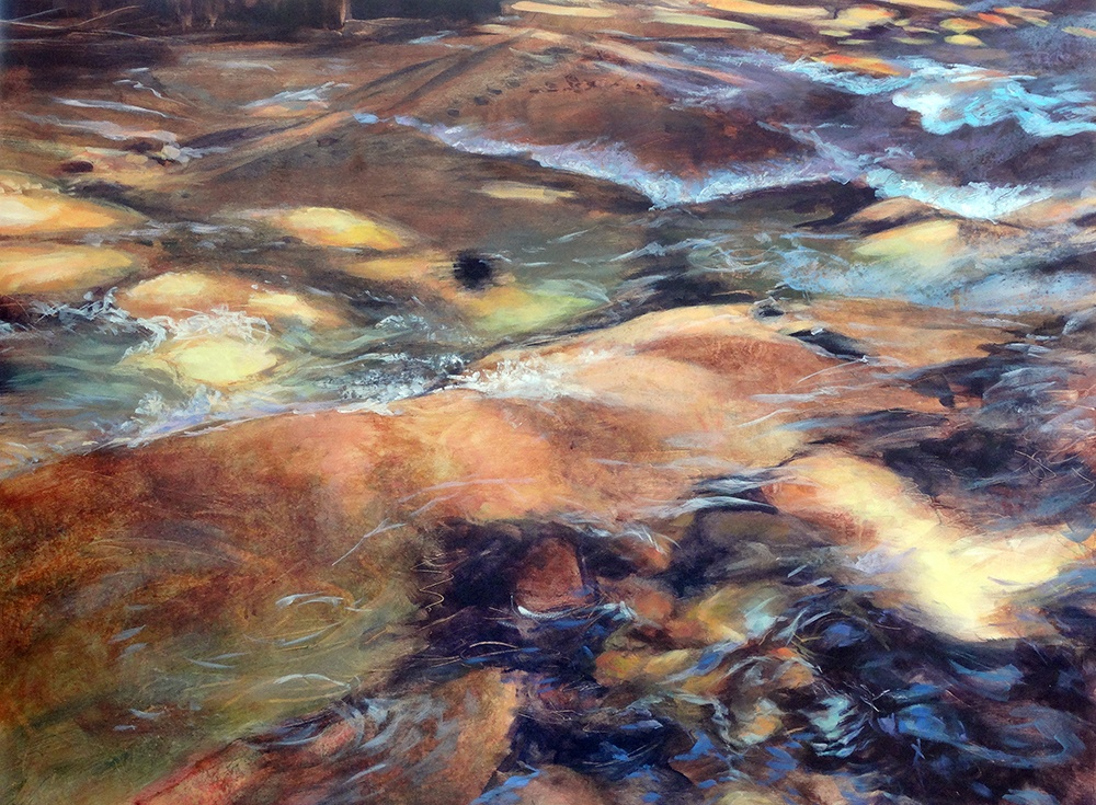 Painting of Oregon's Soda Creek by Susan Luckey Higdon