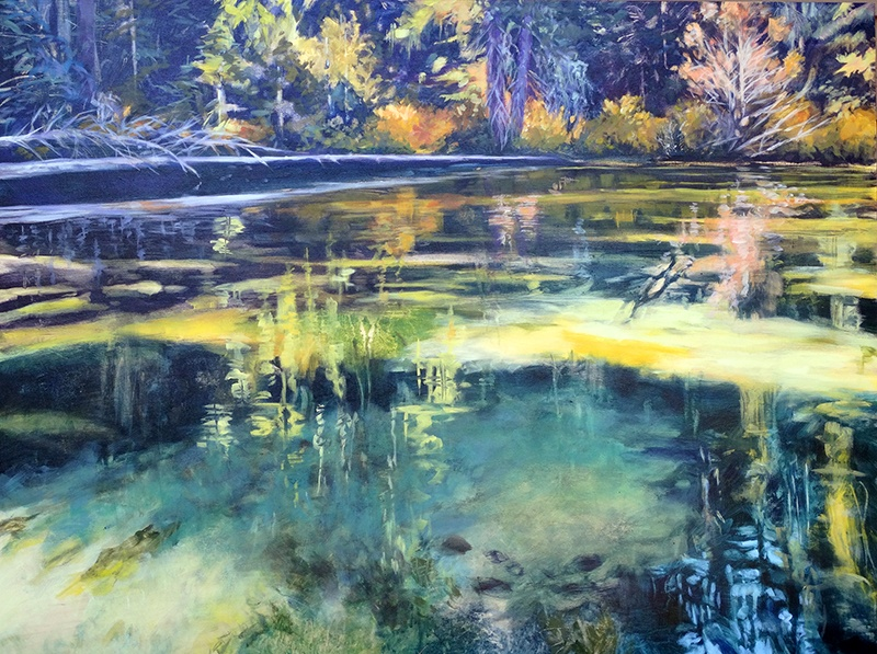 Painting by Susan Luckey Higdon of Odell Lake Oregon