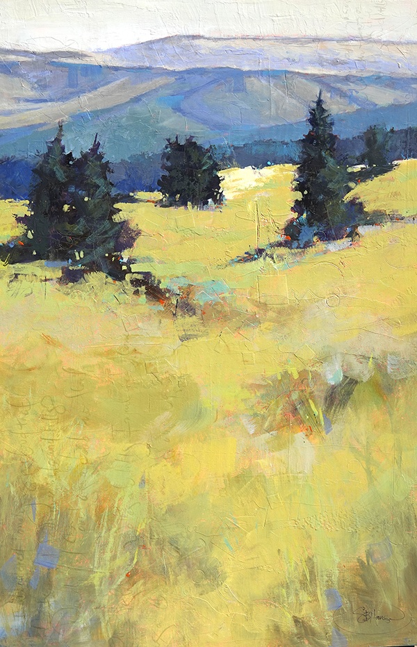 Oregon's badlands, Mixed media by Sarah B Hansen