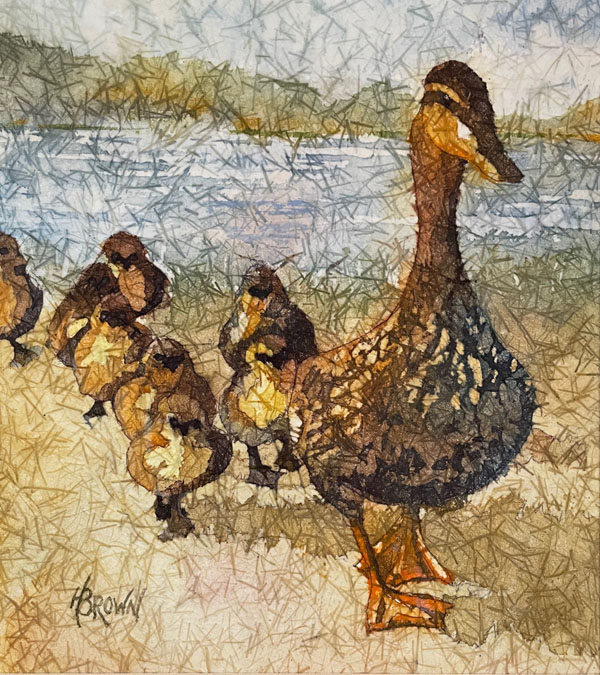 A duck family by Helen Brown