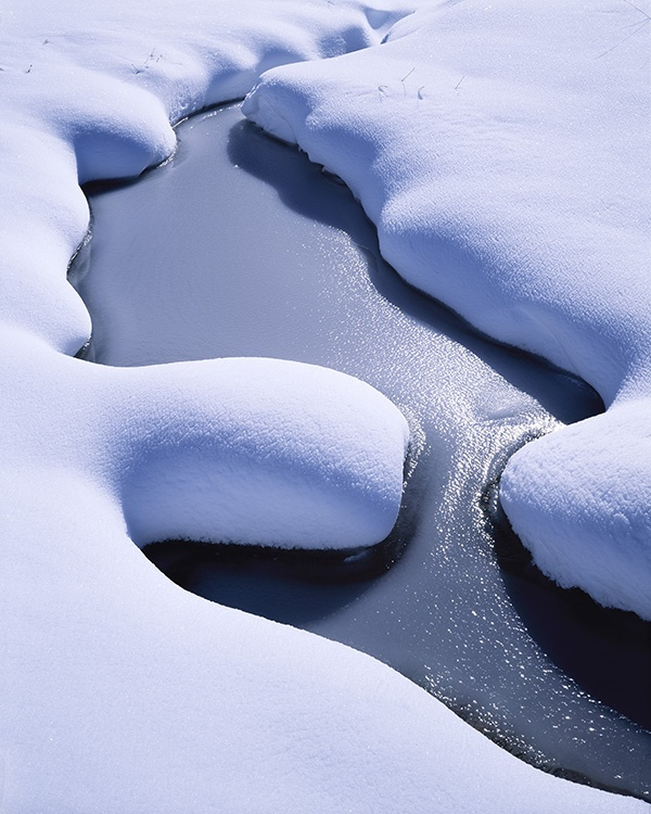 Winter stream in the Cascade Mountains fine art photography by Bruce Jackson