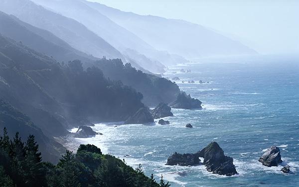 West Coast Ocean Panoramic fine art photography by Bruce Jackson