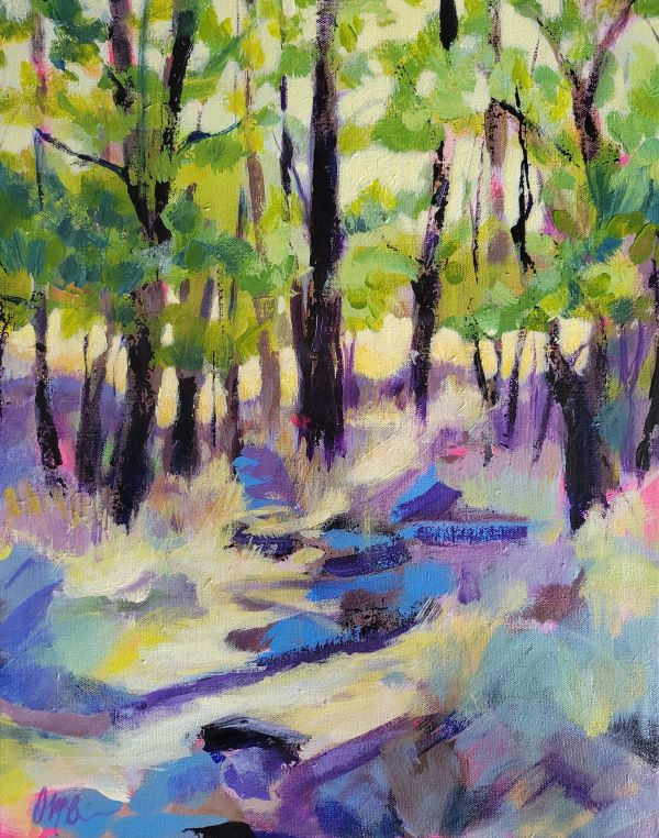 Dry Creek Canyon is an acrylic by Dee McBrien-Lee