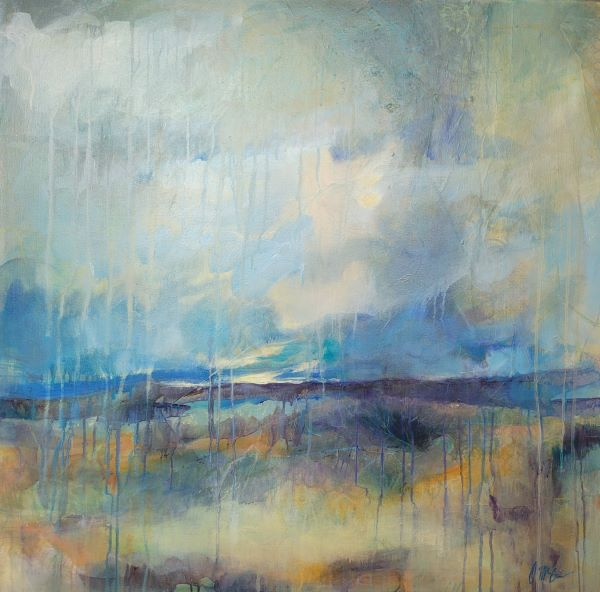 High Drama is mixed media abstract by Dee McBrien-Lee